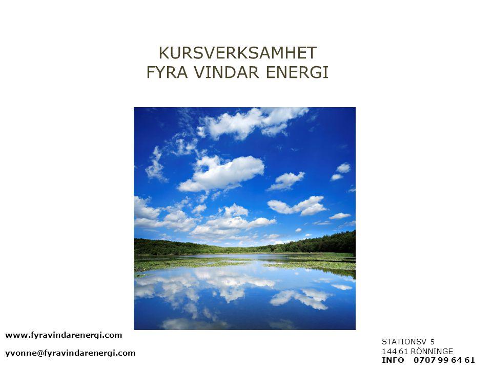 KURSVERKSAMHET FYRA VINDAR ENERGI