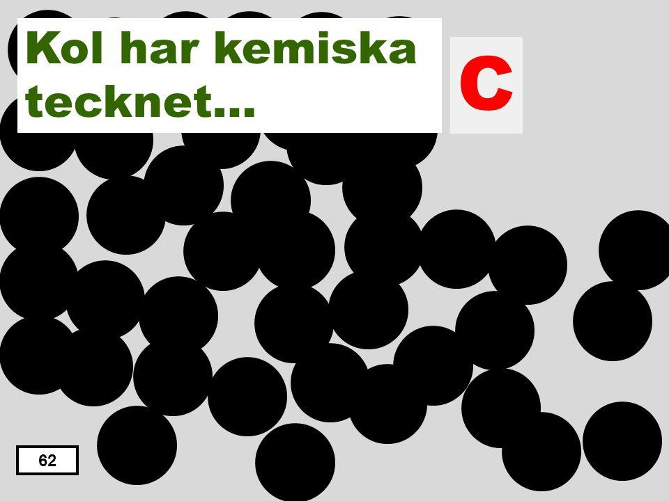 Kol har kemiska tecknet… C 62