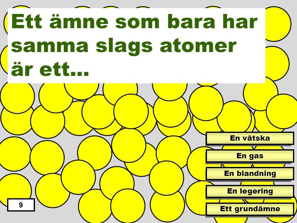Ett ämne som bara har samma slags atomer är ett…