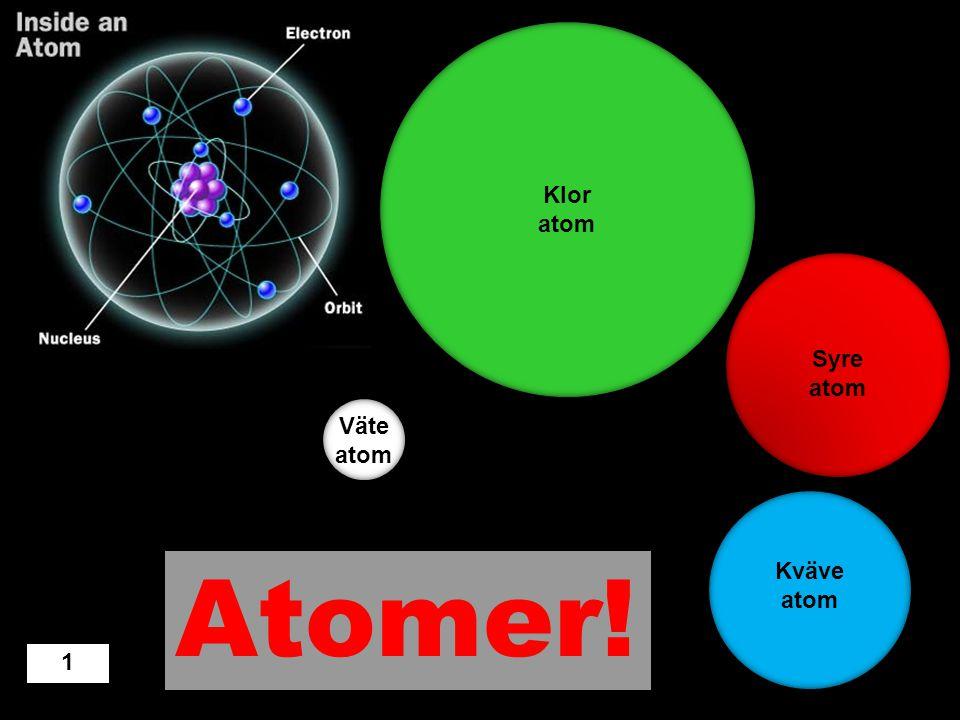 Atomer! Klor atom Syre atom Väte atom Kväve atom 1 Design: