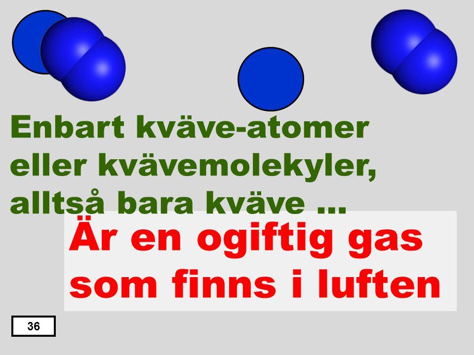 Är en ogiftig gas som finns i luften
