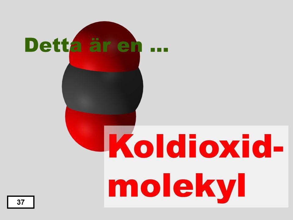 Detta är en … Koldioxid- molekyl 37