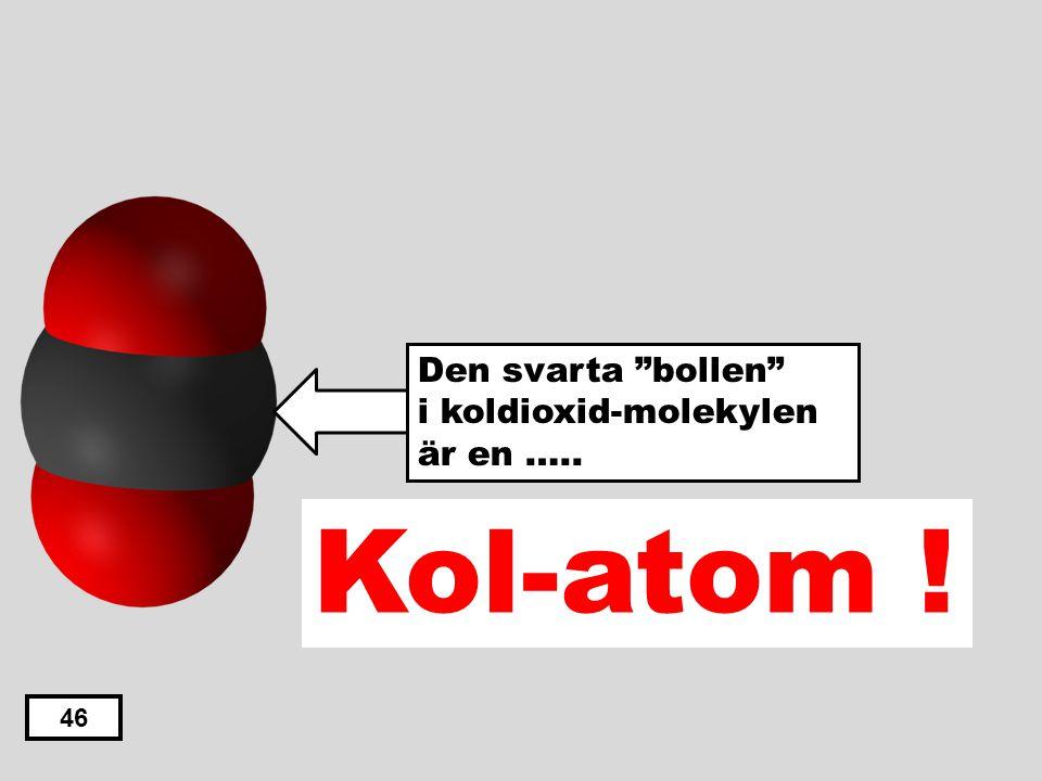 Den svarta bollen i koldioxid-molekylen