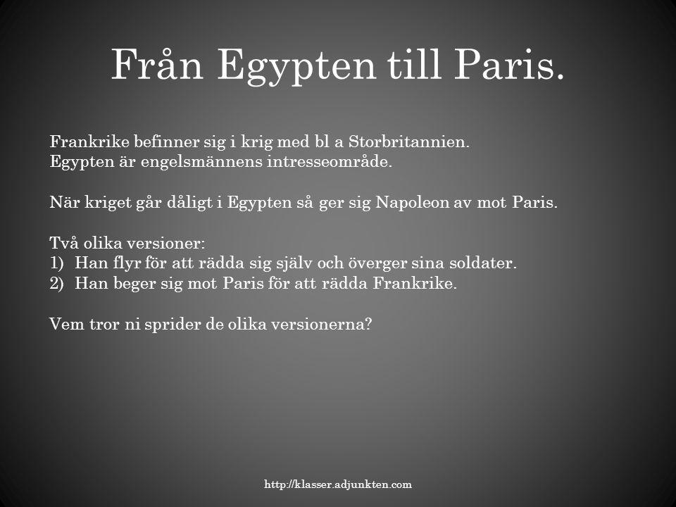 Från Egypten till Paris.