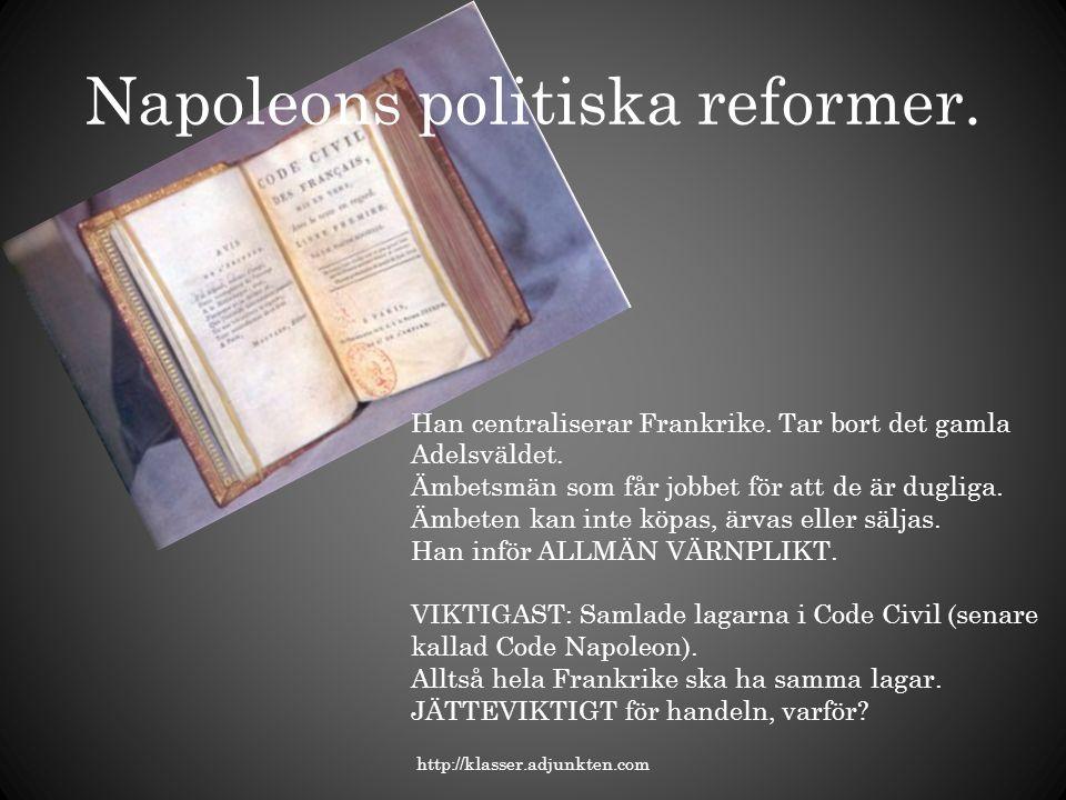 Napoleons politiska reformer.