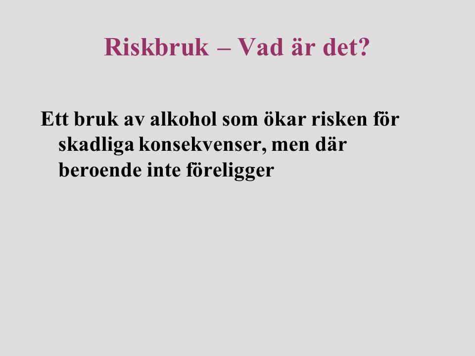 Riskbruk – Vad är det.