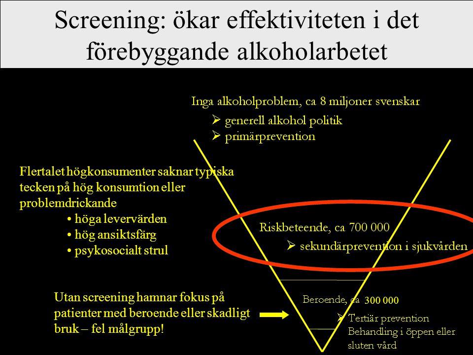 Screening: ökar effektiviteten i det förebyggande alkoholarbetet