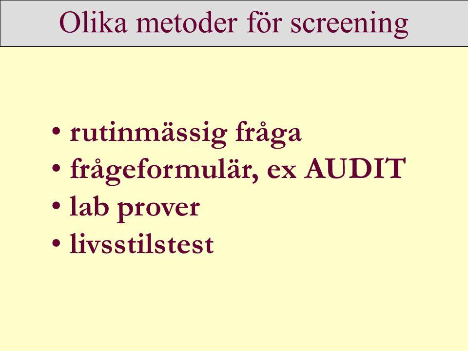 Olika metoder för screening