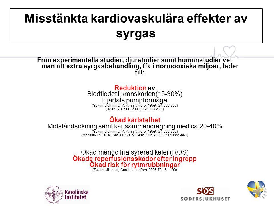 Misstänkta kardiovaskulära effekter av syrgas