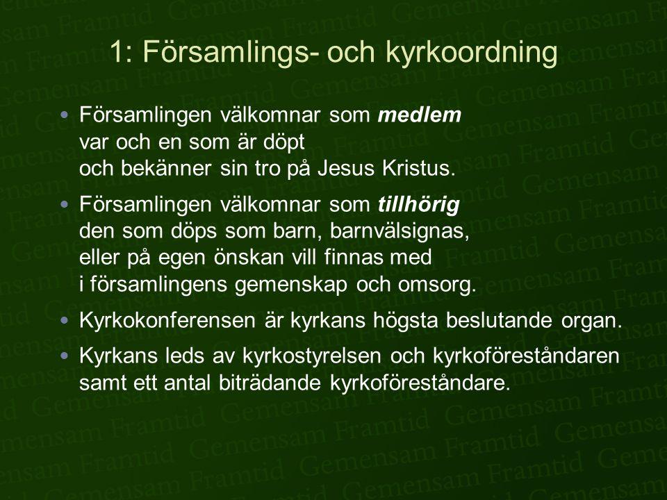 1: Församlings- och kyrkoordning