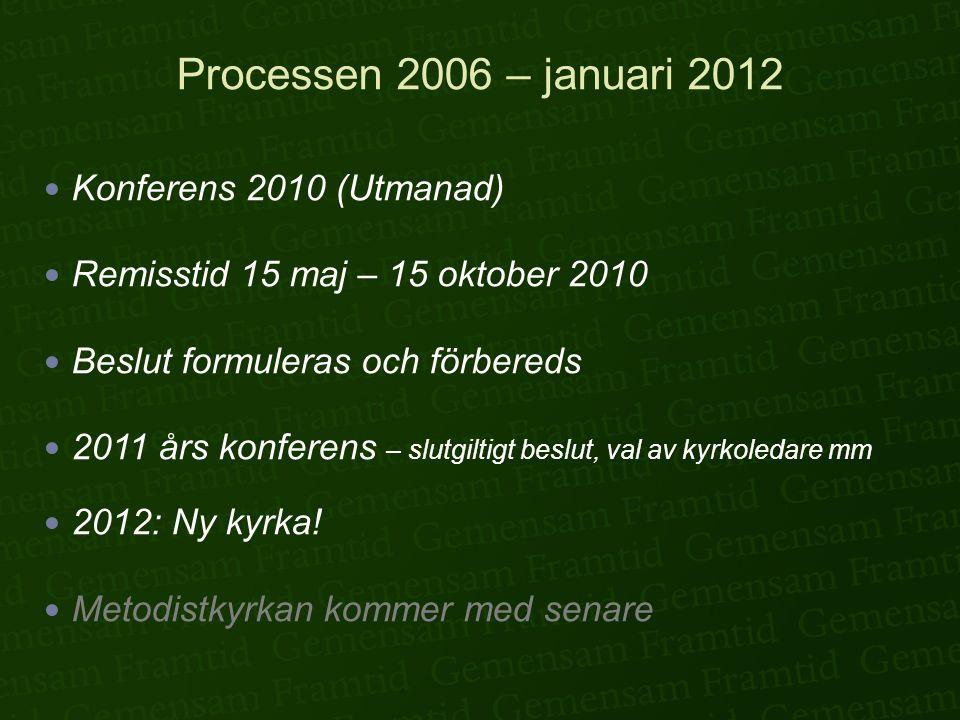 Processen 2006 – januari 2012 Konferens 2010 (Utmanad)