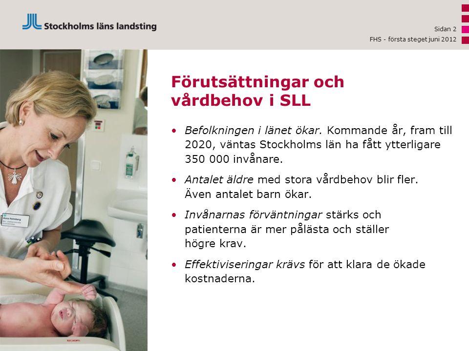 Förutsättningar och vårdbehov i SLL