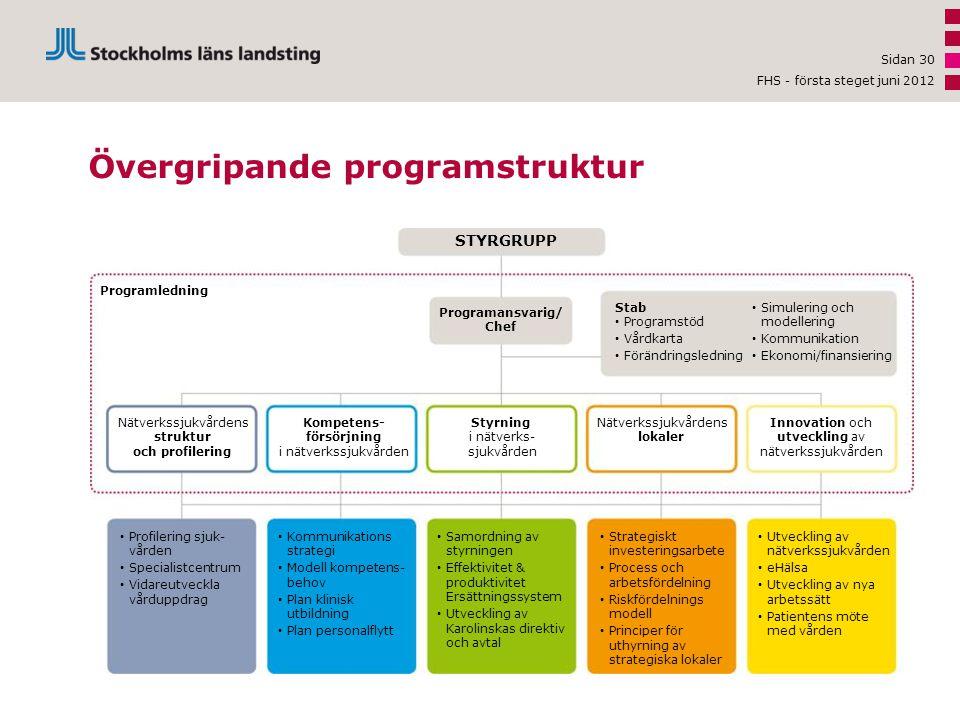 Övergripande programstruktur