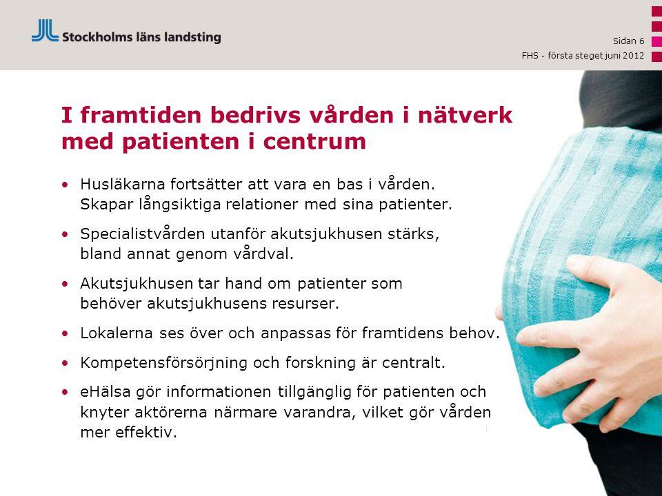 I framtiden bedrivs vården i nätverk med patienten i centrum