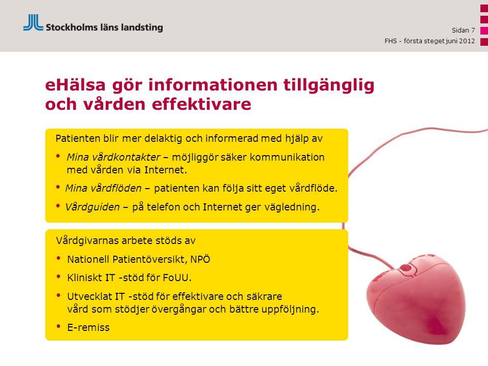 eHälsa gör informationen tillgänglig och vården effektivare