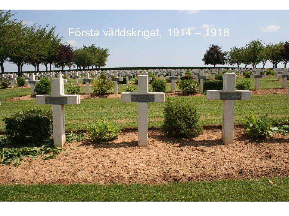 Första världskriget, 1914 – 1918