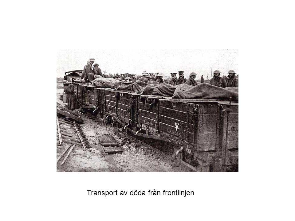 Transport av döda från frontlinjen