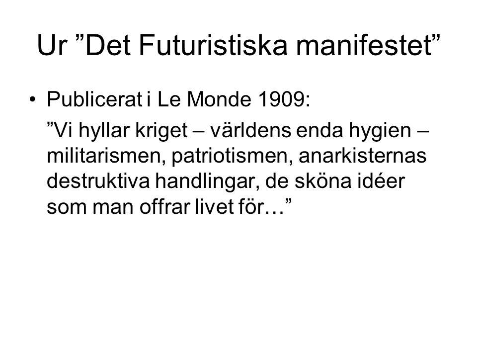 Ur Det Futuristiska manifestet