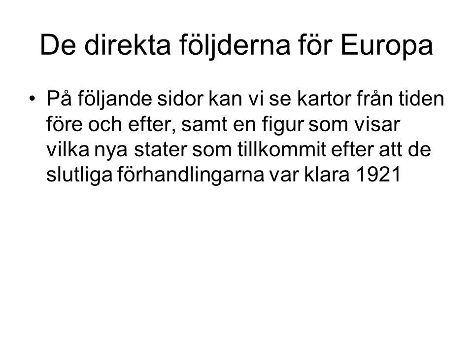 De direkta följderna för Europa