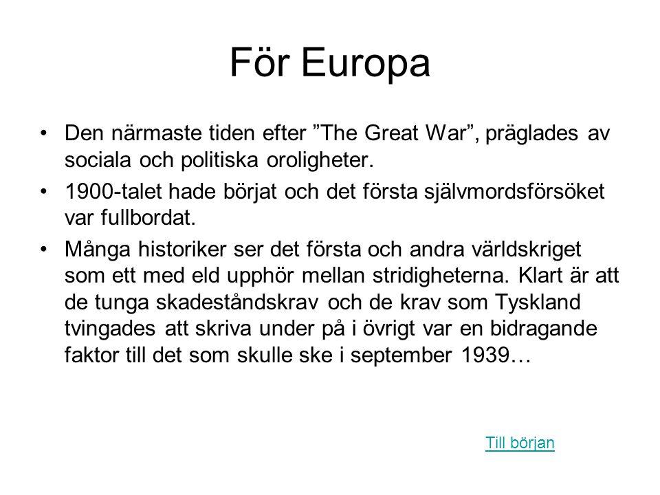 För Europa Den närmaste tiden efter The Great War , präglades av sociala och politiska oroligheter.