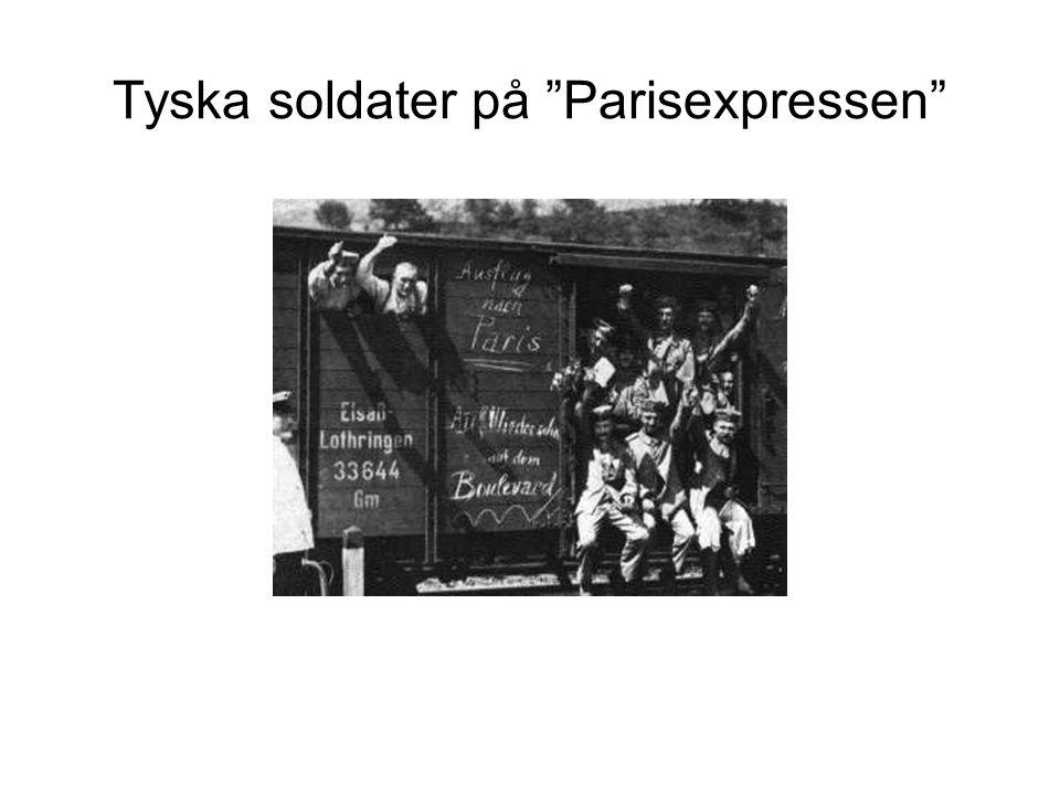 Tyska soldater på Parisexpressen