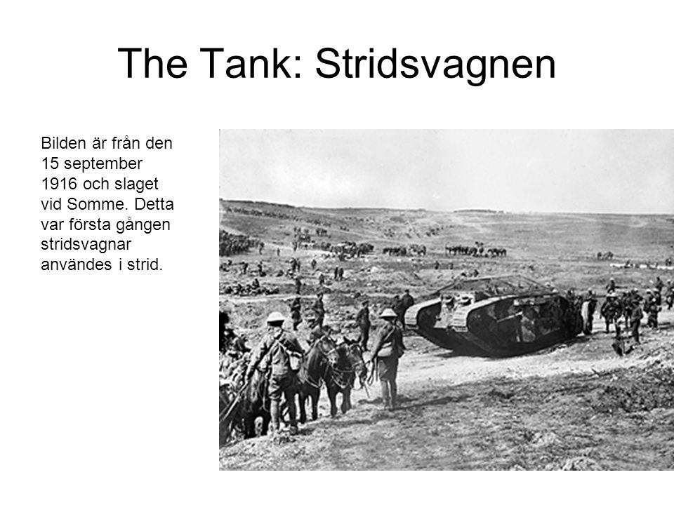 The Tank: Stridsvagnen