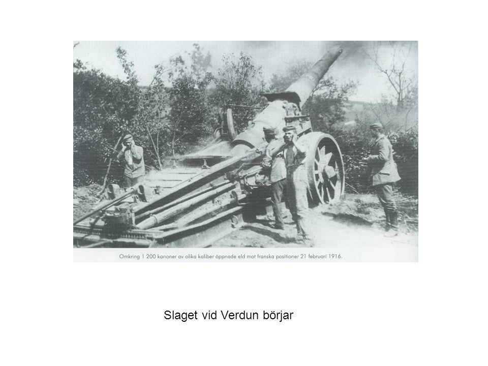 Slaget vid Verdun börjar