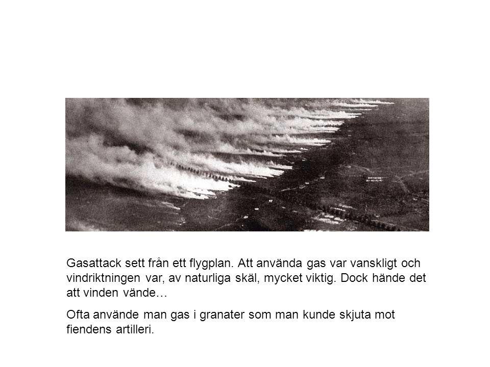 Gasattack sett från ett flygplan
