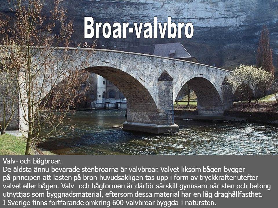 Broar-valvbro Valv- och bågbroar.