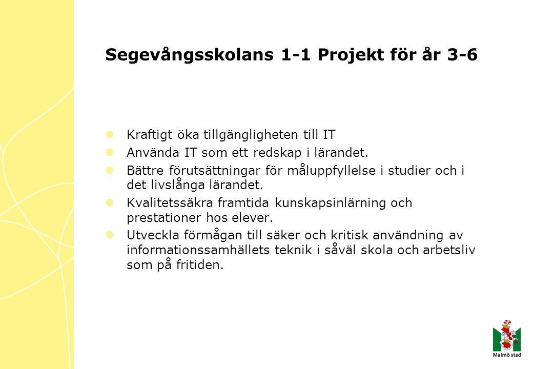 Segevångsskolans 1-1 Projekt för år 3-6