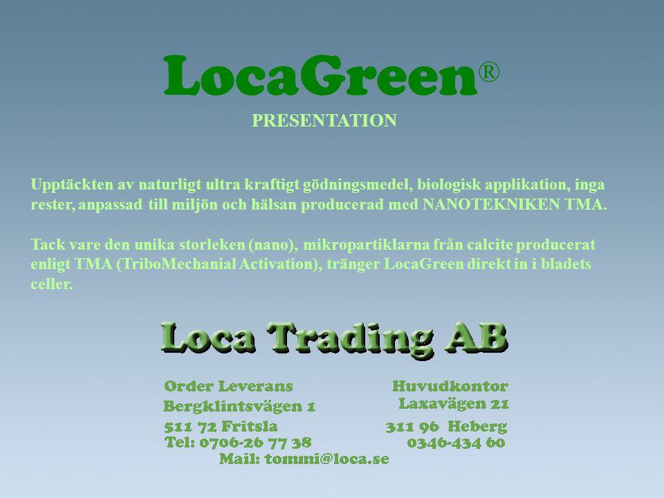 LocaGreen® PRESENTATION