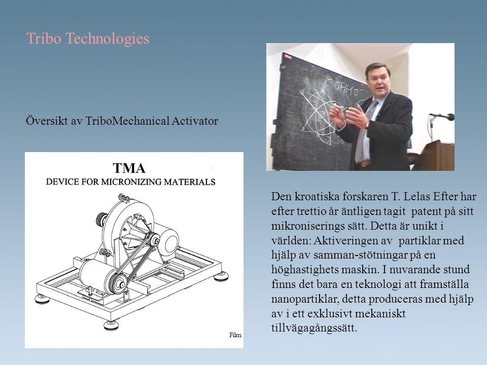 Tribo Technologies Översikt av TriboMechanical Activator