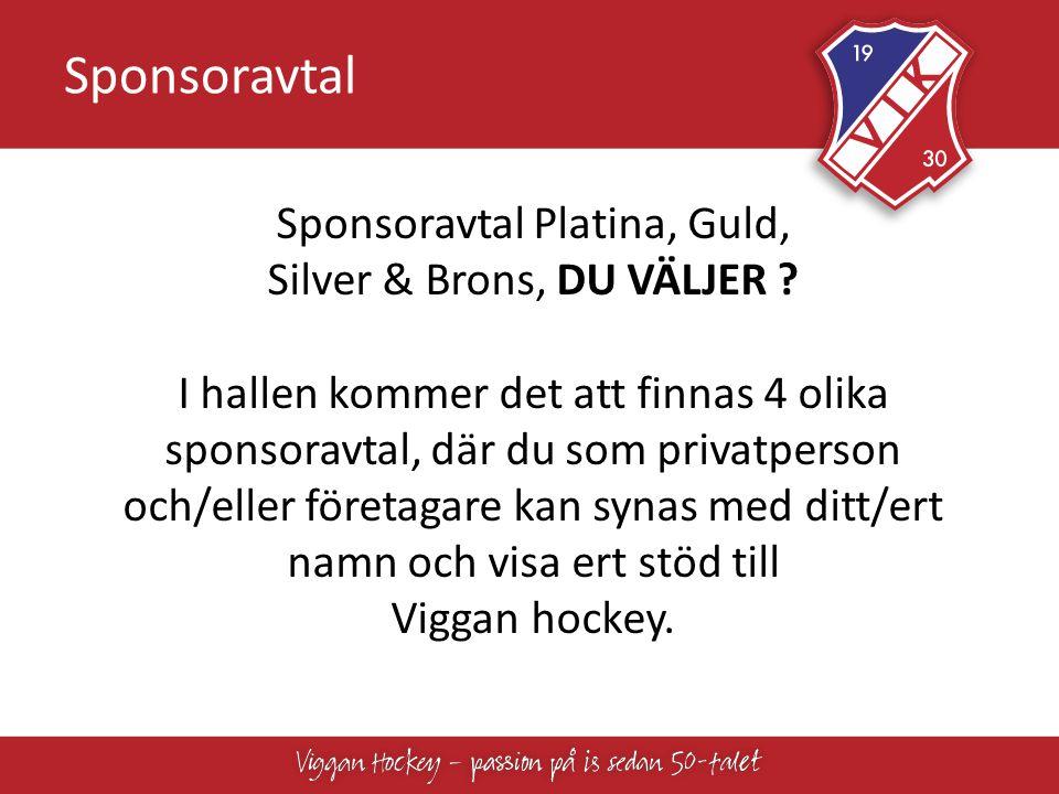 Sponsoravtal Platina, Guld, Silver & Brons, DU VÄLJER
