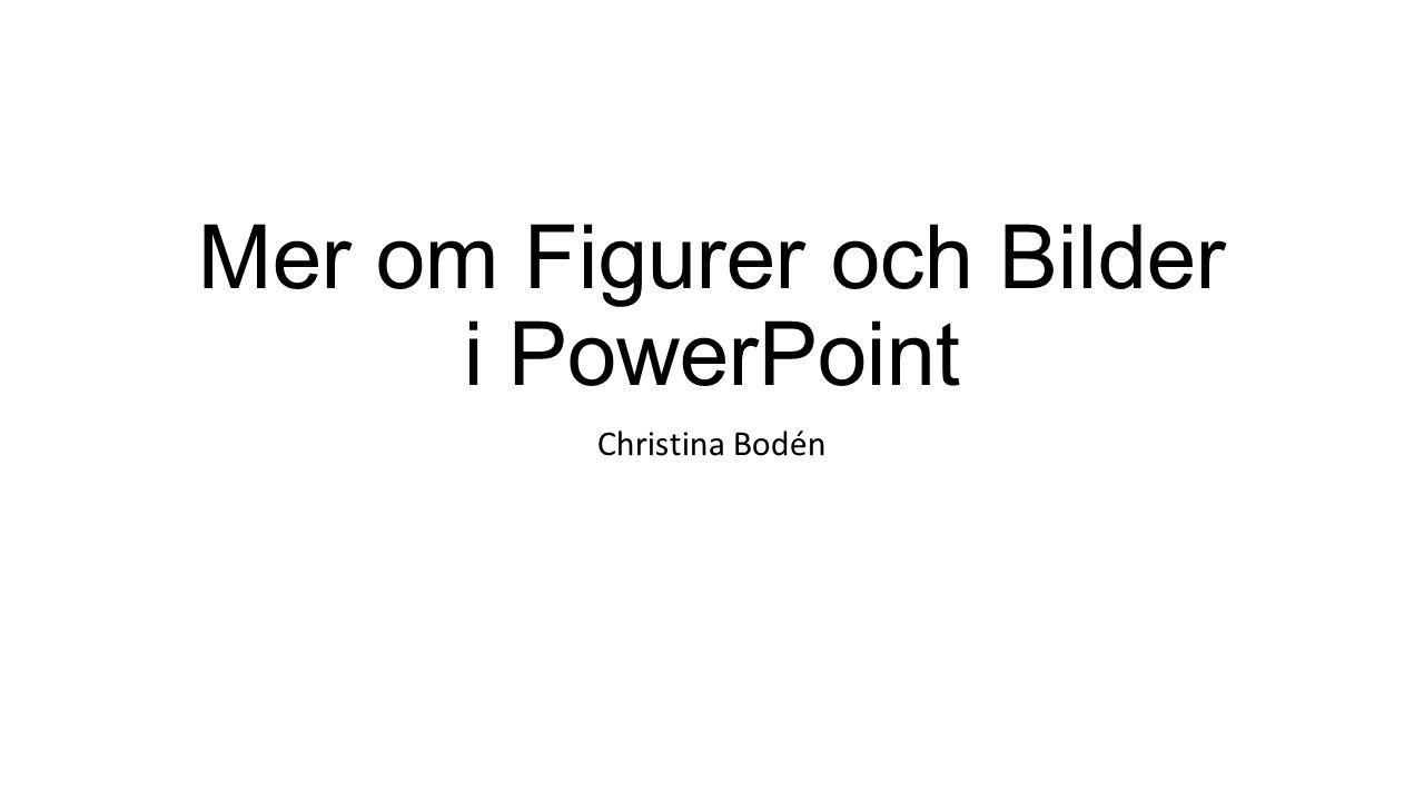 Mer om Figurer och Bilder i PowerPoint