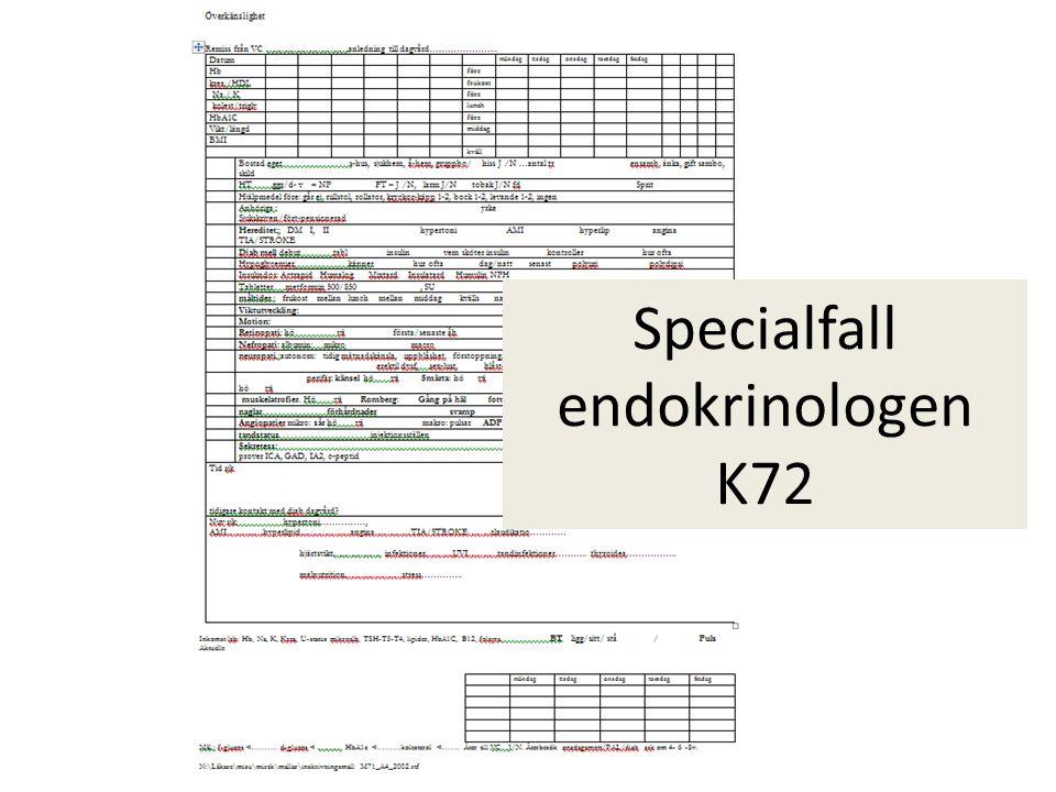 Specialfall endokrinologen K72