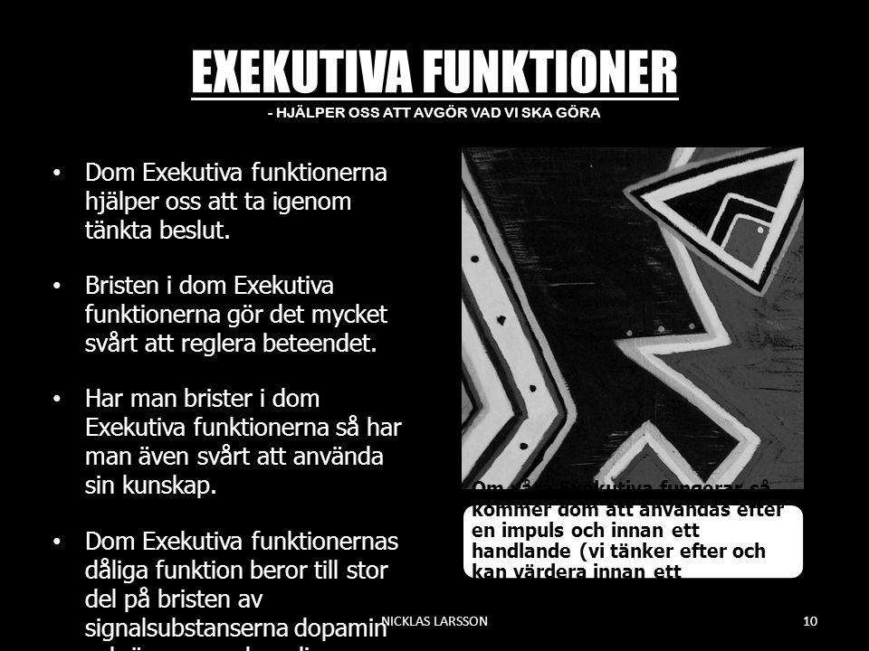 EXEKUTIVA FUNKTIONER - HJÄLPER OSS ATT AVGÖR VAD VI SKA GÖRA