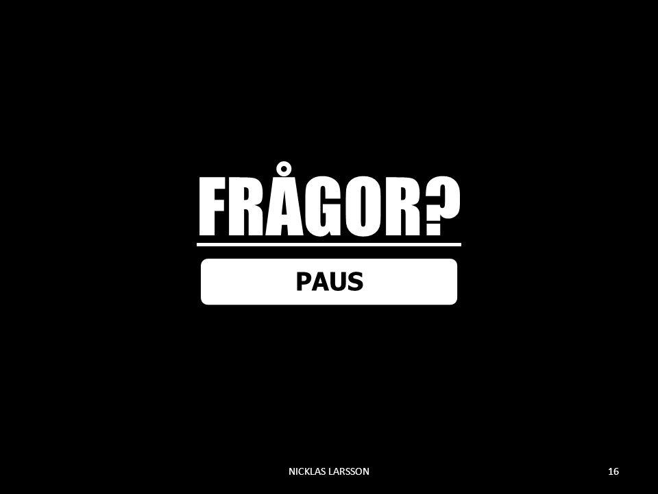 FRÅGOR PAUS NICKLAS LARSSON