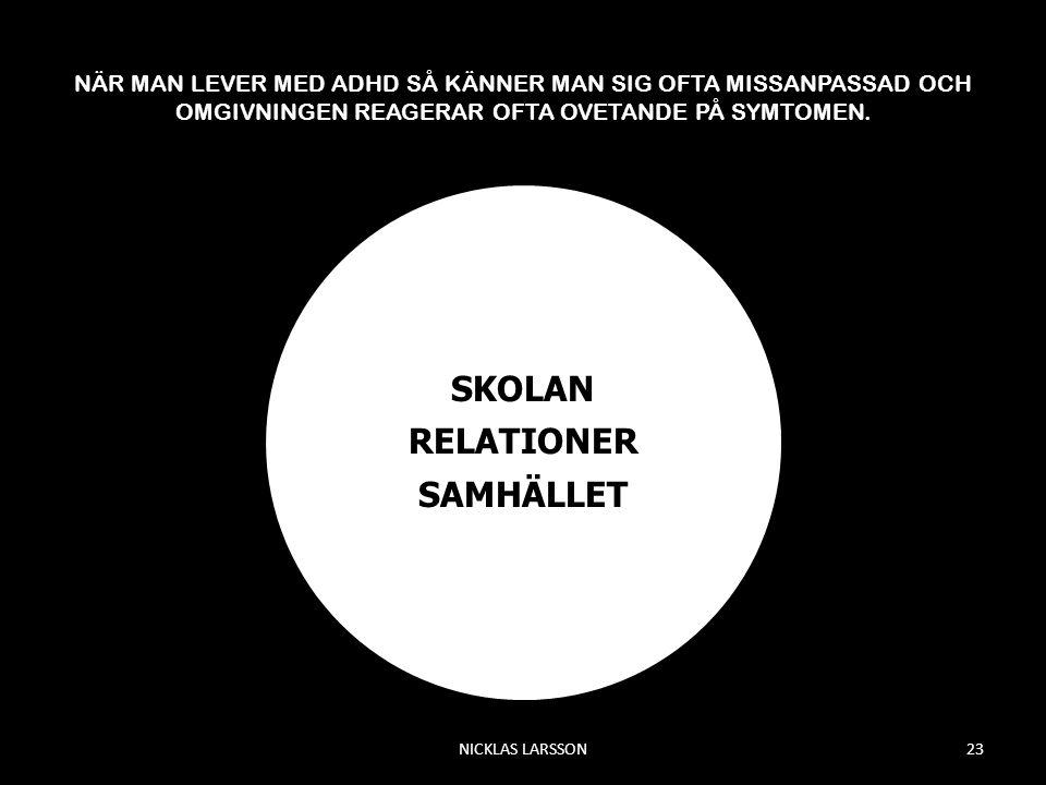 SKOLAN RELATIONER SAMHÄLLET
