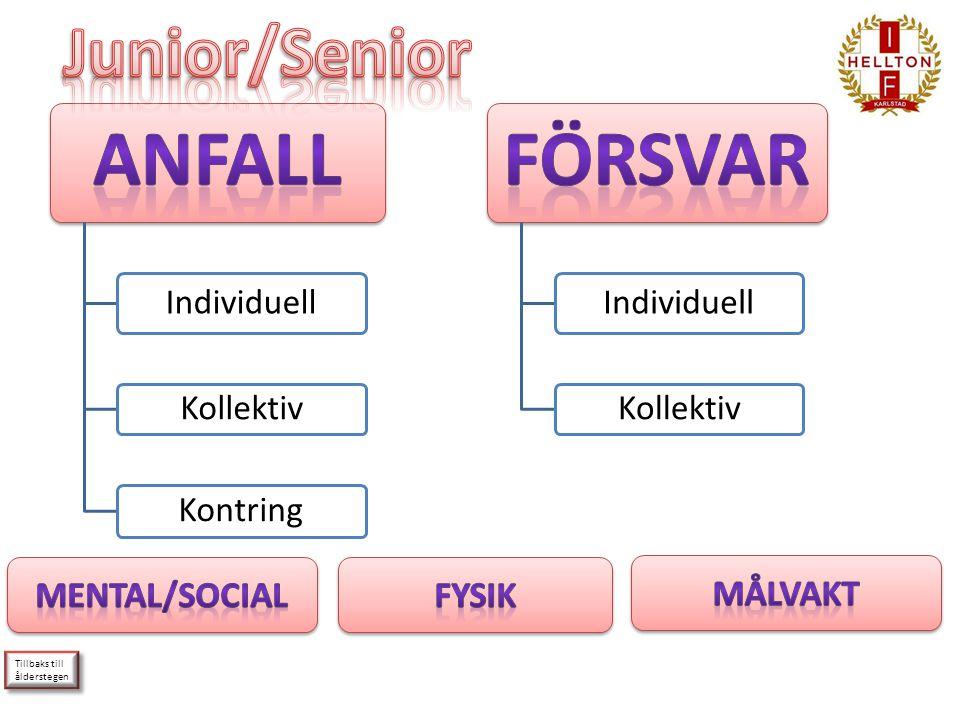 Junior/Senior Mental/Social Fysik Målvakt Tillbaks till ålderstegen