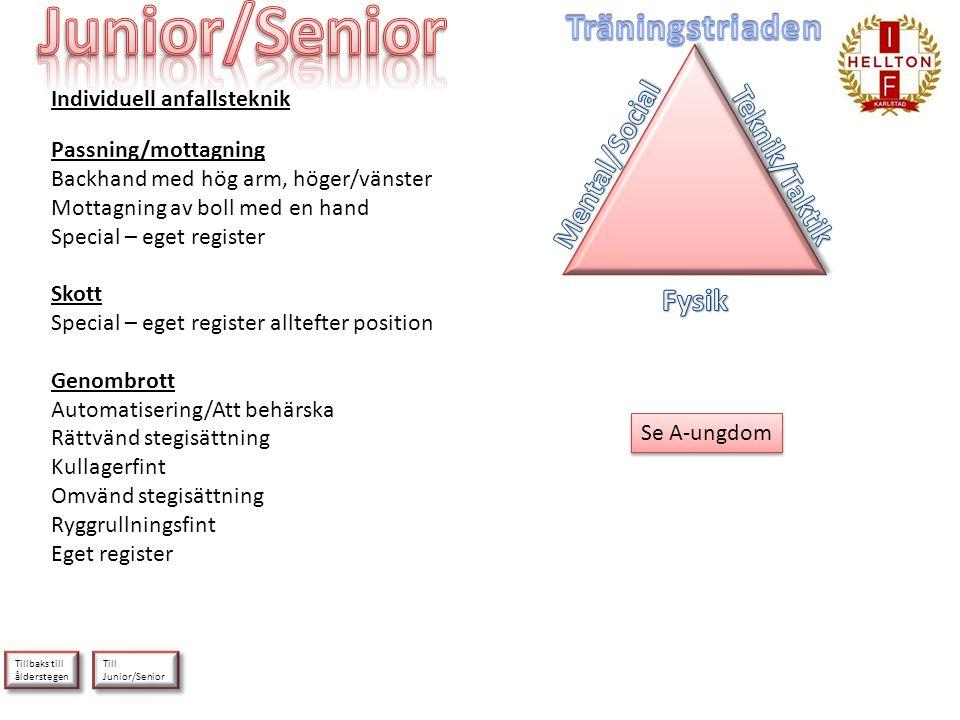 Junior/Senior Träningstriaden Mental/Social Teknik/Taktik Fysik