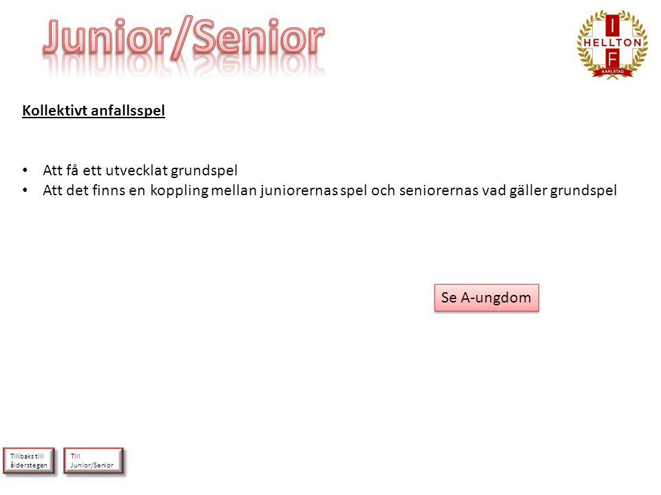 Junior/Senior Kollektivt anfallsspel Att få ett utvecklat grundspel