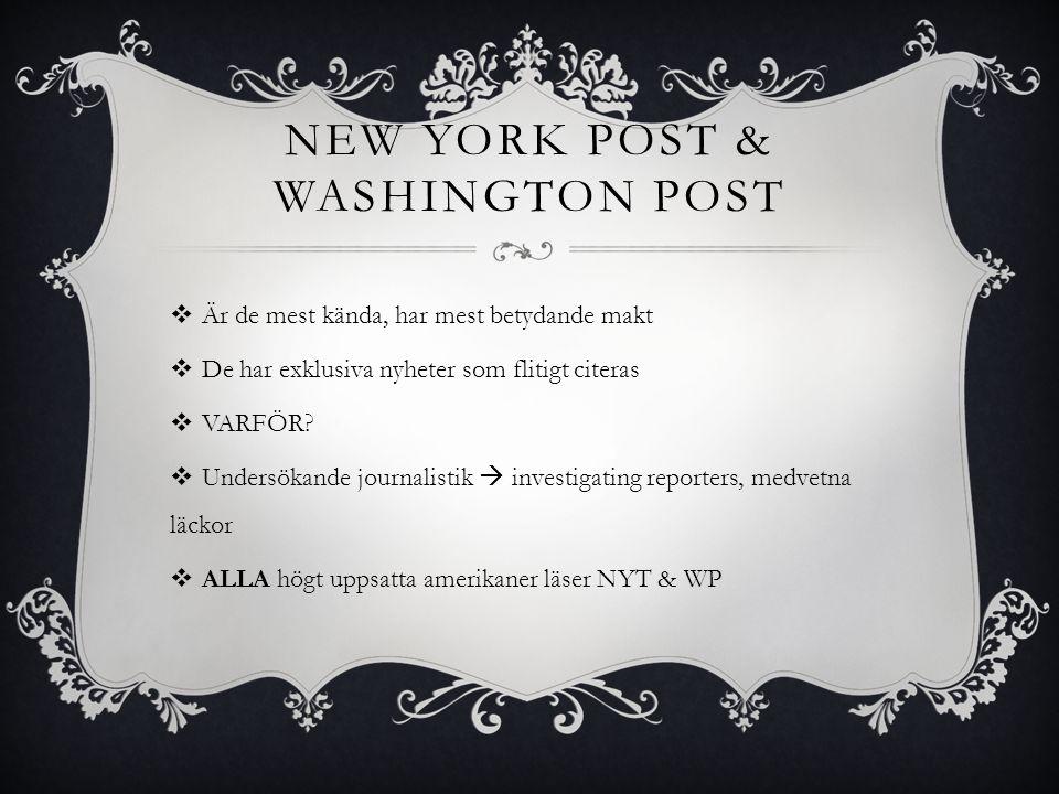 New York Post & Washington Post
