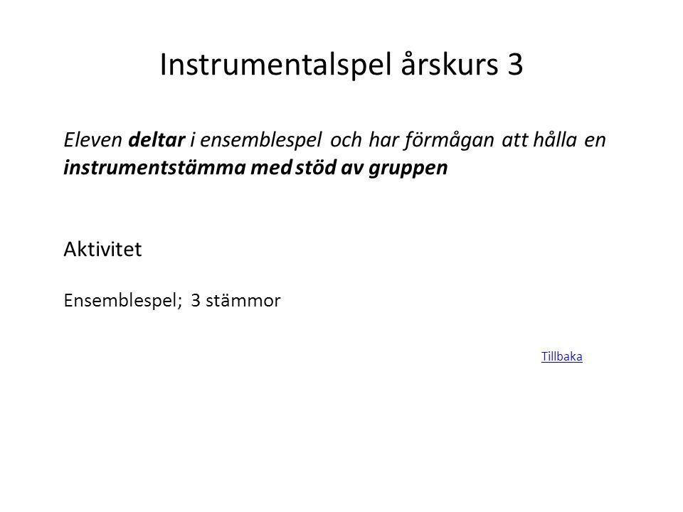 Instrumentalspel årskurs 3