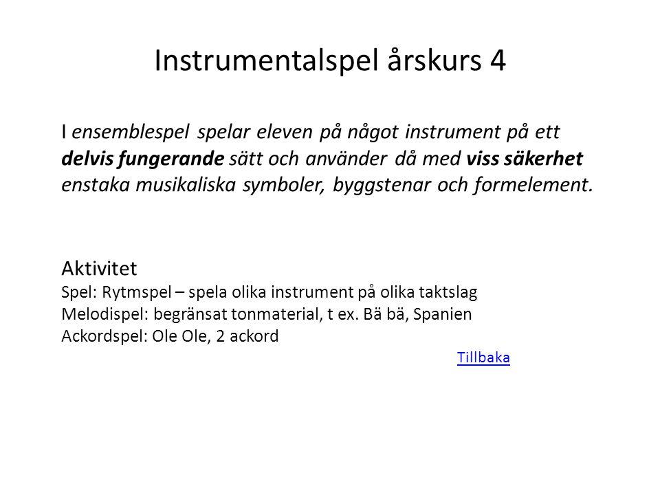 Instrumentalspel årskurs 4