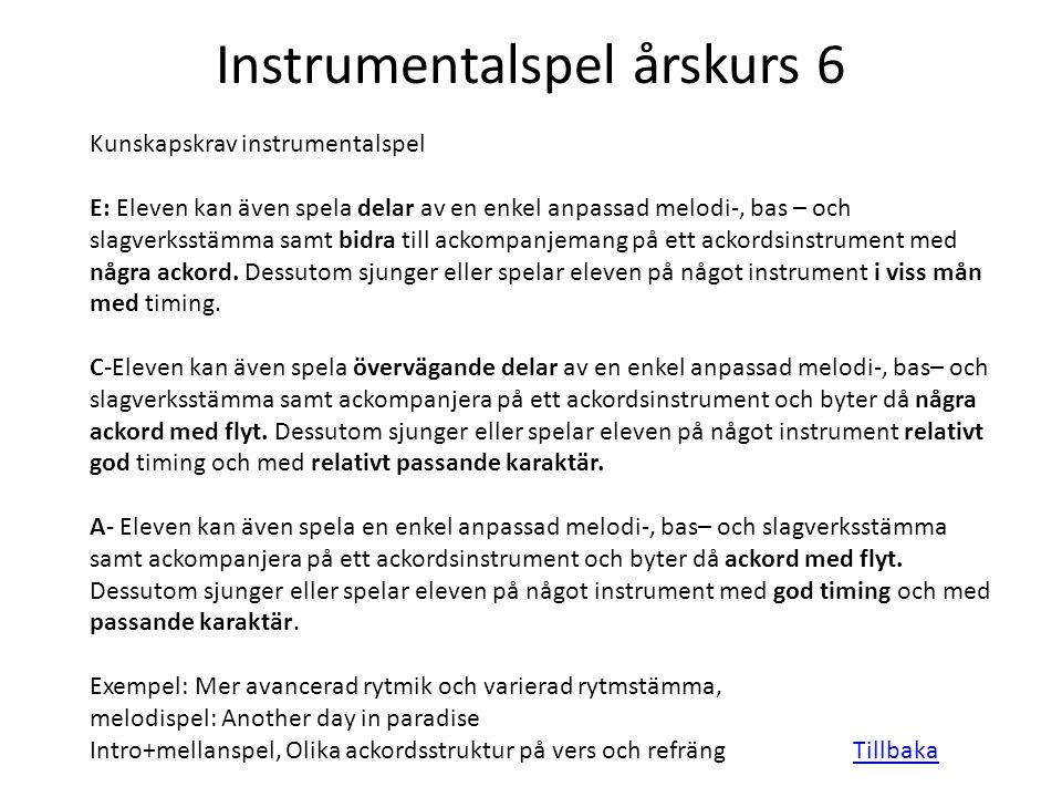 Instrumentalspel årskurs 6