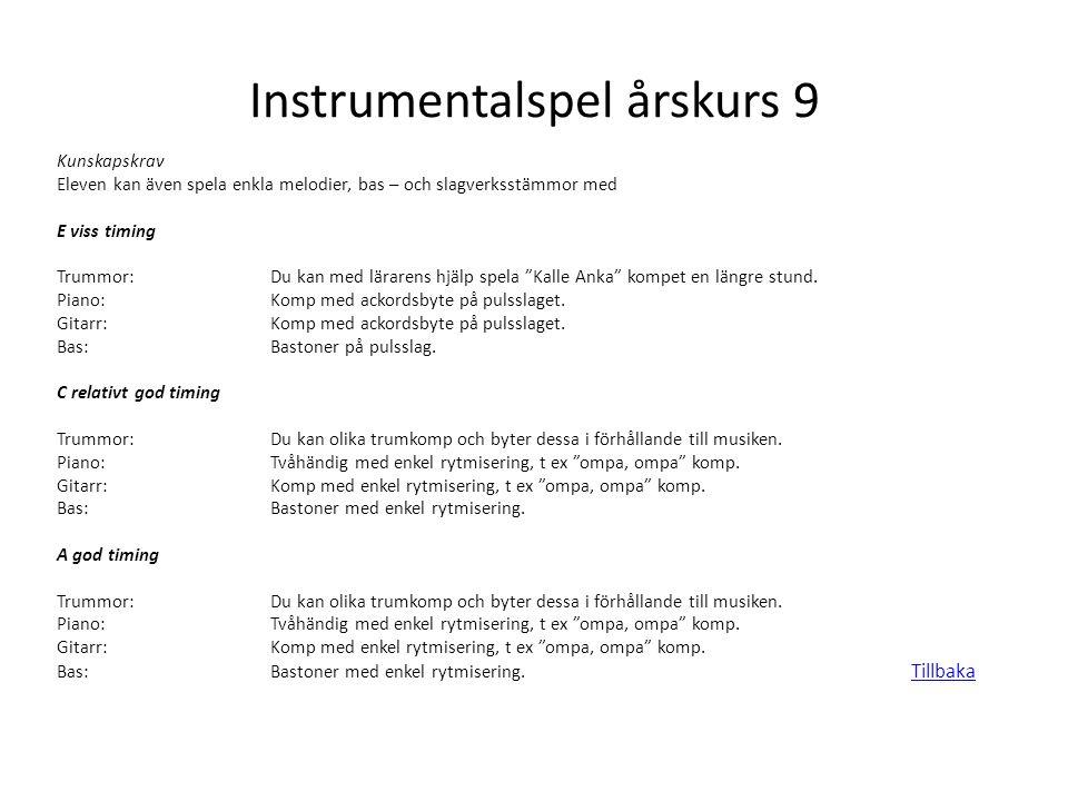 Instrumentalspel årskurs 9