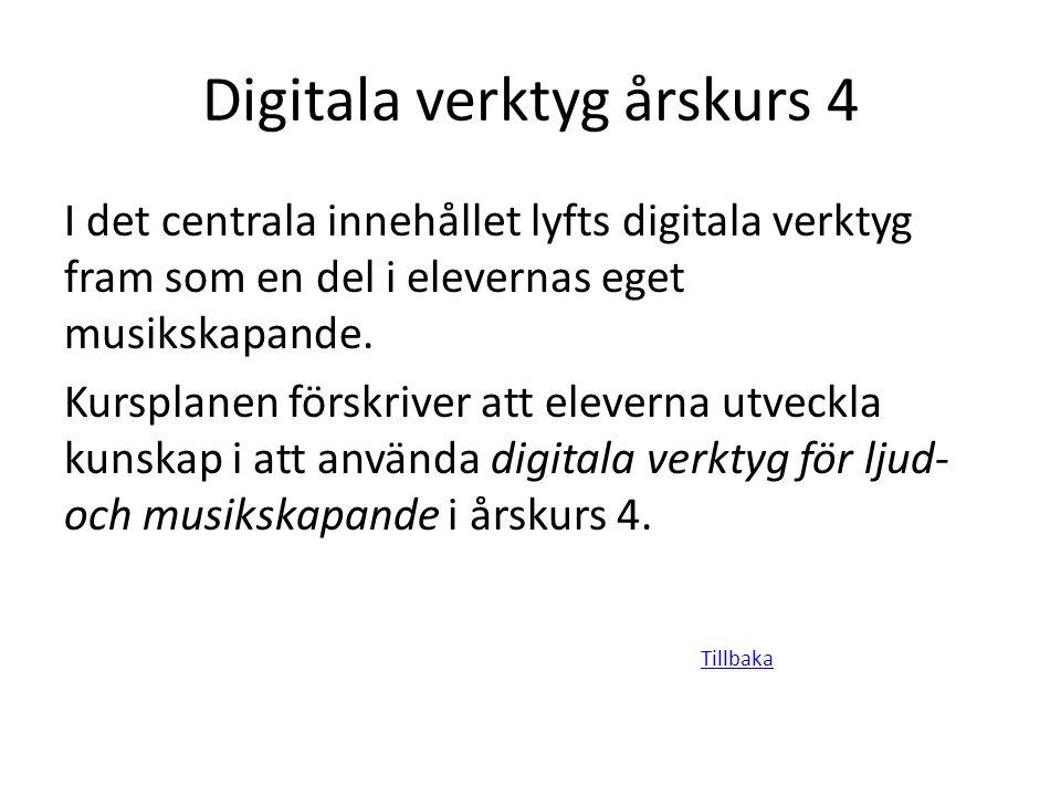 Digitala verktyg årskurs 4