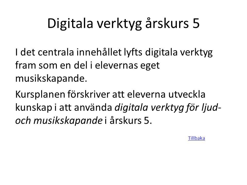 Digitala verktyg årskurs 5