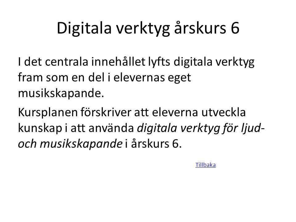 Digitala verktyg årskurs 6