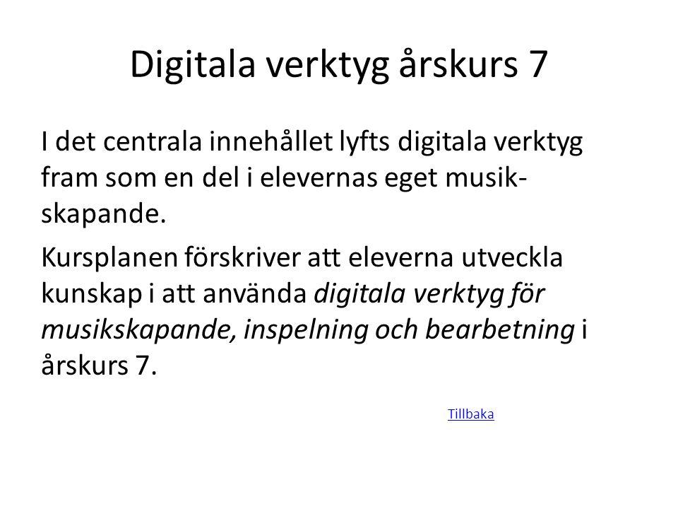 Digitala verktyg årskurs 7